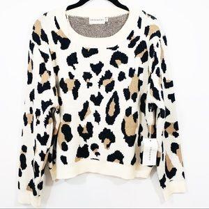 NWT Dreamers leopard big print sweater